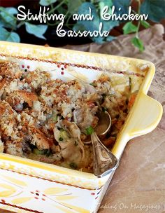 Stuffing and Chicken Casserole | Taking On Magazines | www.takingonmagazines.com