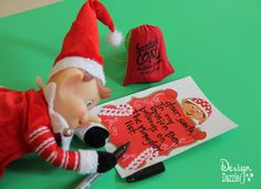 Dear Santa: Elf reporting the naughty list. FREE printable elf stationary to write your own notes.