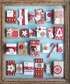 Handmade Advent Calendar with great non-candy items for each day