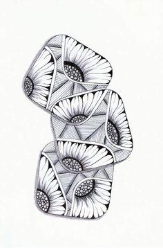 Sunflowers Zentangle