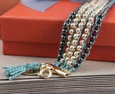 DIY chic beaded bracelet.