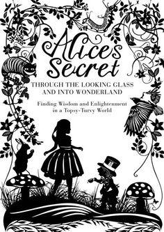 wonderland silhouett, glass project, alice in wonderland, cover book, wonderland cover