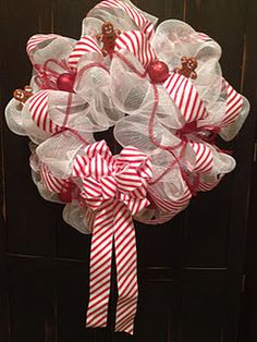 candy cane striped wreath