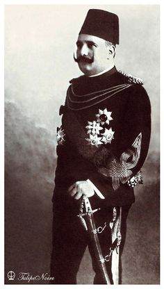 H.M. King Fouad I of Egypt's Standing-Portrait.