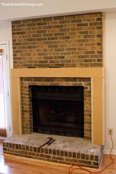 decor, adam hous, cottag, fireplac makeov, brick, fireplaces, hous project, fireplac idea, fireplace makeovers