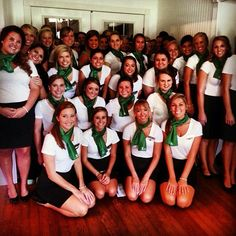 Kappa Delta recruitment outfits on Skit Day