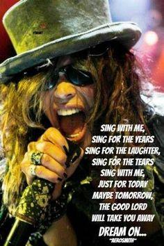 ☯☮ॐ American Hippie Psychedelic Classic Rock Music Retro Vintage ~ Aerosmith - Dream On Lyrics