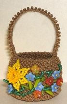 Beaded Beaded Easter/Flower Basket Pattern by Jeanette Shanigan at Bead-Patterns.com