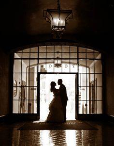 weddings, roosevelt hotel, silhouettes, los angeles, lobbies, hotels, red wedding
