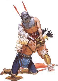 Gladiateurs. Illustration par Angus Mc Bride.