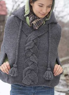 Free Pattern: Braid Detail Cape by Patons
