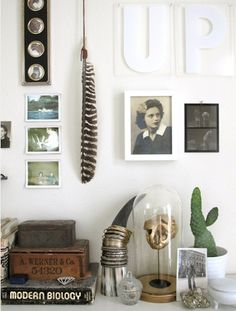 Worldly treasures // vignette styling