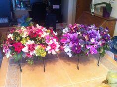 Memorial flower arrangement