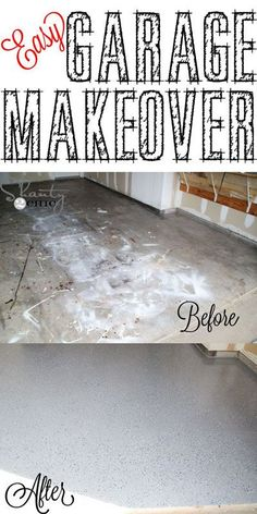 Easy garage room makeover with floor paint.