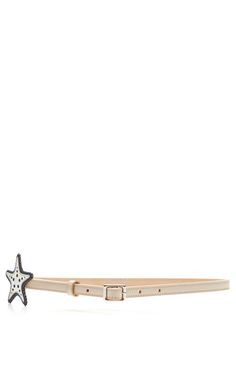 Thin Leather Starfish Belt by Rochas