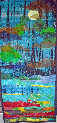 'rappahannock rain' art quilt    New work! Hand dyed and overdyed fabrics.