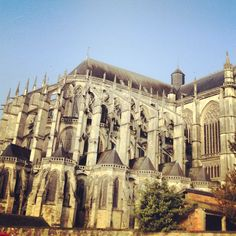 Cathedral at Le Mans - the birthplace of Henry II (Plantagenet). Le Mans is linked with Canterbury as Henry II's church reforms resulted in the death of Thomas Becket, Archbishop of Canterbury.