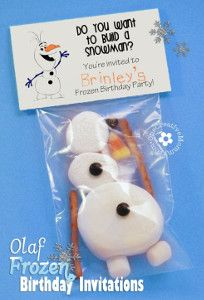 Do you wanna build a snowman? These adorable Printable Olaf Invitations from One Creative Mommy are too cute! | AllFreeKidsCrafts.com