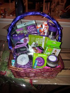 fitness themed gift basket