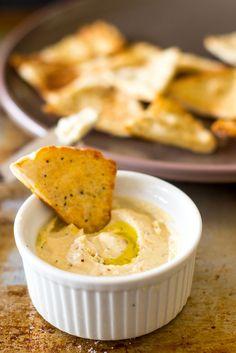 pita chip dip, garlic pita, party snacks, garlic dipping sauce, garlic dipping oil, feta dip, vegetarian pita