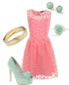 Pink & Teal.. Cute for spring!