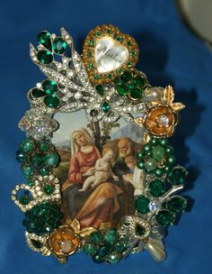 Mother Emerald Green Jeweled Rhinestone Picture by KatsCollection, $89.99