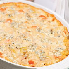 A tailgate favorite will become a favorite dinnertime staple once you make this Buffalo Chicken Casserole.