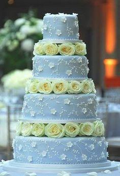 Yellow Rose Wedding cake by TinyCarmen