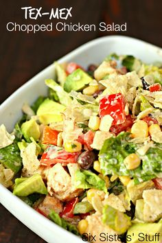 Tex-Mex Chopped Chicken Salad on SixSistersStuff.com - the perfect summer dish!