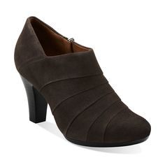 Society Gown in Pewter Suede - Womens Shoes from Clarks