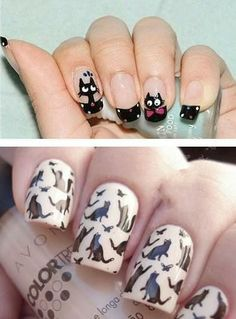 cat lover nails