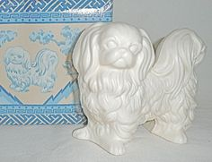 Vintage Avon Pekingese dog scented pomander decoration