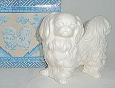 Vintage Avon Pekingese dog scented pomander decoration