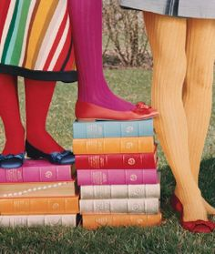 Tights and books