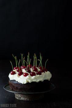 Chocolate Cherry Guinness Cake