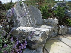 Just adore this rustic stone bench. Feels like it pre-dates modern times! By Sunny Wieler from http://www.stoneart.ie/ .
