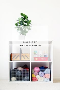 DIY: wire mesh baskets