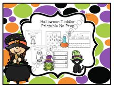 Toddler Halloween Printable No Prep from Preschool Printables on TeachersNotebook.com -  (29 pages)  - Toddler Halloween Printable No Prep  8 color & trace pages 2 trace the words pages 4 pages of sentences color-cut-paste Maze 3 color & match pages How many? What comes next? Trace the lines