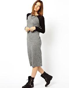 ASOS Midi Dress In Nepi With Raglan Sleeve