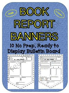Book Report Banners (CCSS) Bulletin Board Display from LearningandGrowing on TeachersNotebook.com -  (13 pages)  - Book Report Banners for the Bulletin Board
