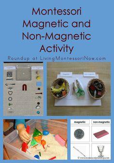 Montessori Magnetic and Non-Magnetic Activity #SuliaMoms #preschool #Montessori nonmagnet activ, montessori magnet, preschool montessori, learn, early childhood, educ, magnet idea, magnetic activities, scienc