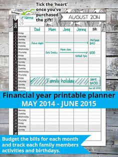 Financial Year Calendar 201415 Printable | Calendar Template 2016