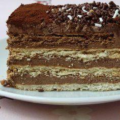 Receta Tarta de chocolate y galletas de la abuela   Kocinarte.com