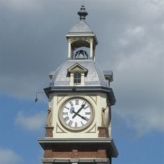 Image detail for -The top of the famous clock tower, Market Hall, Peterborough, Ontario.