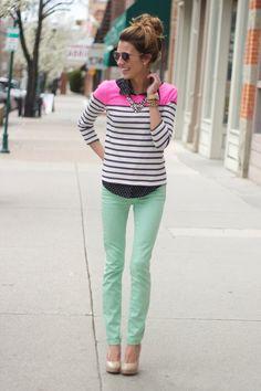 mint jeans!!