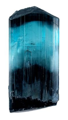 Indicolite tourmaline, Gilgit, Northern Territories, Pakistan, 3.8 cm    http://www.treasuremountainmining.com/servlet/the-template/articles/Page?article=indicolite