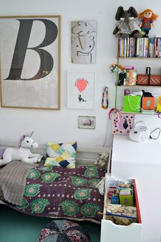 Cute eclectic kids room