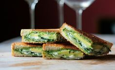 30 Great Recipes for a Healthier 2014: Green Goddess Grilled Cheese