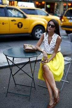 Classic blouses, fashion, end of summer, city chic, cafe style, long skirts, street styles, summer outfits, city style