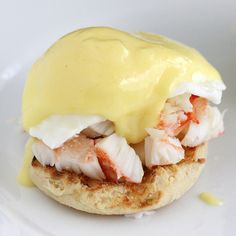 Would I ever make this king crab benedict? Most likely not, but it looks great.